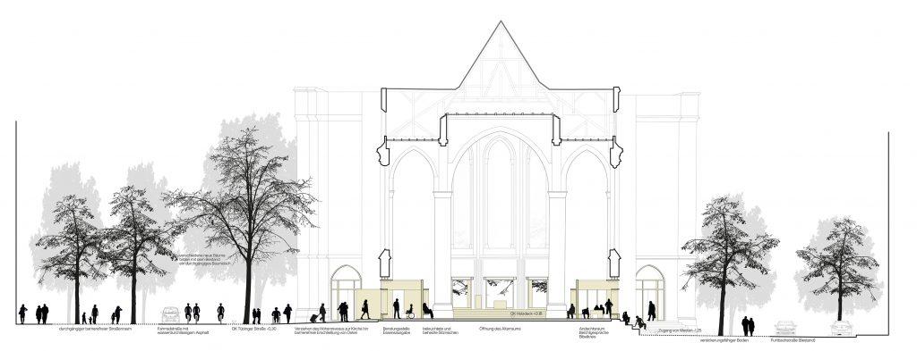 vertikale & horizontale Porosität   Querschnitt Stadtraum und Kirche St. Maria